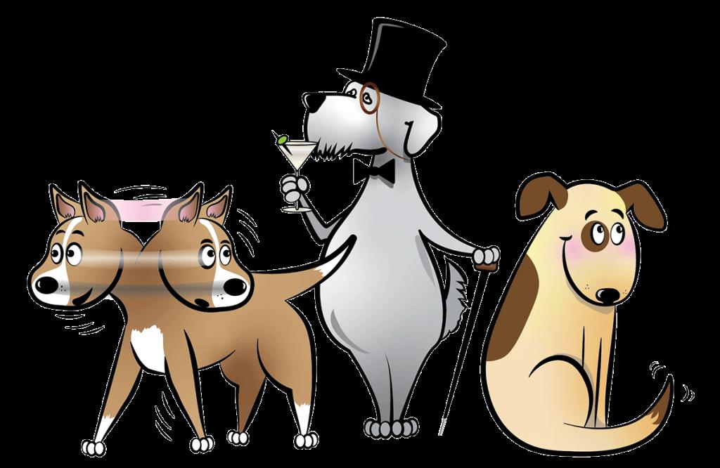 santa barbara humane dog training classes character illustrations