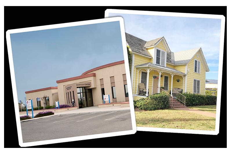 photos of santa maria and santa barbara campus buildings